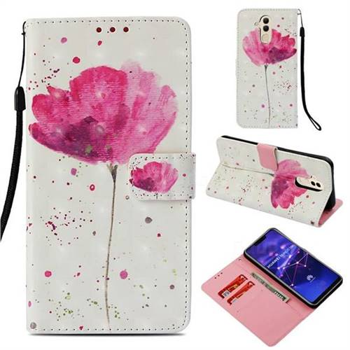 Watercolor 3D Painted Leather Wallet Case for Huawei Mate 20 Lite