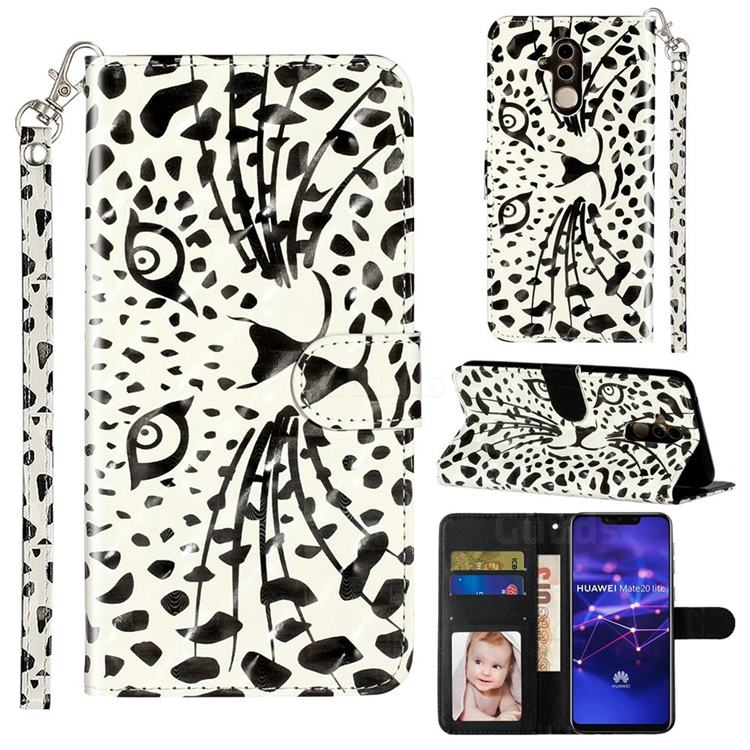 Leopard Panther 3D Leather Phone Holster Wallet Case for Huawei Mate 20 Lite