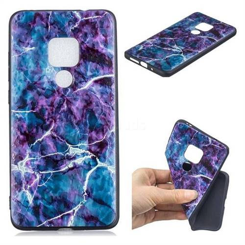 Marble 3D Embossed Relief Black TPU Cell Phone Back Cover for Huawei Mate 20 Pro