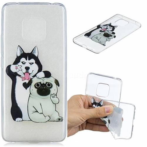 Selfie Dog Clear Varnish Soft Phone Back Cover for Huawei Mate 20 Pro