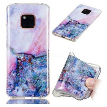 Purple Amber Soft TPU Marble Pattern Phone Case for Huawei Mate 20 Pro