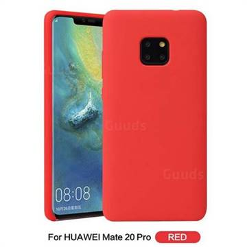 uk availability 5bb1c 766f5 Howmak Slim Liquid Silicone Rubber Shockproof Phone Case Cover for Huawei  Mate 20 Pro - Red