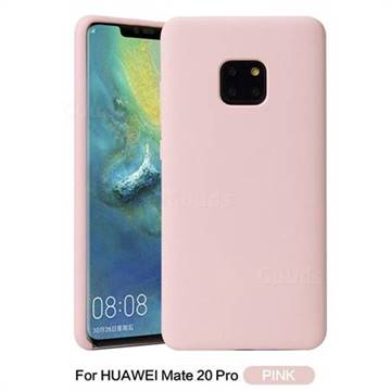 huge selection of 57021 1bdf6 Howmak Slim Liquid Silicone Rubber Shockproof Phone Case Cover for Huawei  Mate 20 Pro - Pink