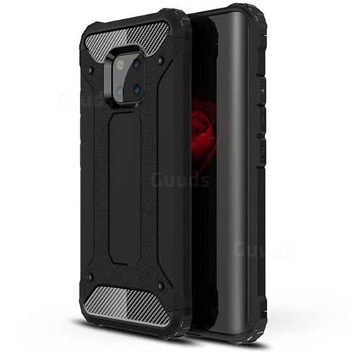 King Kong Armor Premium Shockproof Dual Layer Rugged Hard Cover for Huawei Mate 20 Pro - Black Gold