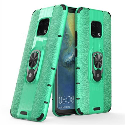 Alita Battle Angel Armor Metal Ring Grip Shockproof Dual Layer Rugged Hard Cover for Huawei Mate 20 Pro - Green