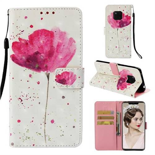 Watercolor 3D Painted Leather Wallet Case for Huawei Mate 20 Pro