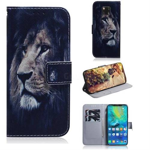 Lion Face PU Leather Wallet Case for Huawei Mate 20 Pro