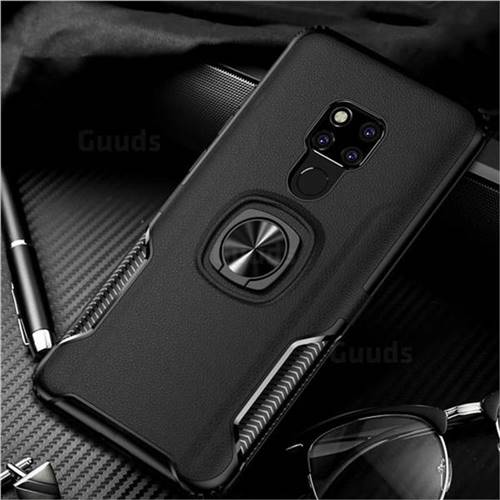 Knight Armor Anti Drop PC + Silicone Invisible Ring Holder Phone Cover for Huawei Mate 20 X - Black