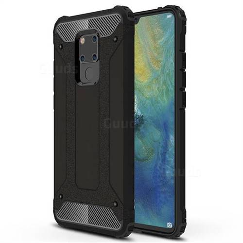 King Kong Armor Premium Shockproof Dual Layer Rugged Hard Cover for Huawei Mate 20 X - Black Gold
