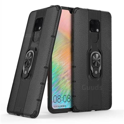 Alita Battle Angel Armor Metal Ring Grip Shockproof Dual Layer Rugged Hard Cover for Huawei Mate 20 X - Black