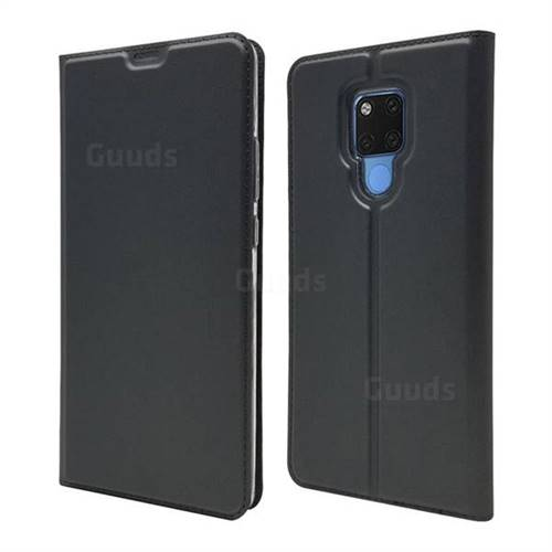 Ultra Slim Card Magnetic Automatic Suction Leather Wallet Case for Huawei Mate 20 X - Star Grey