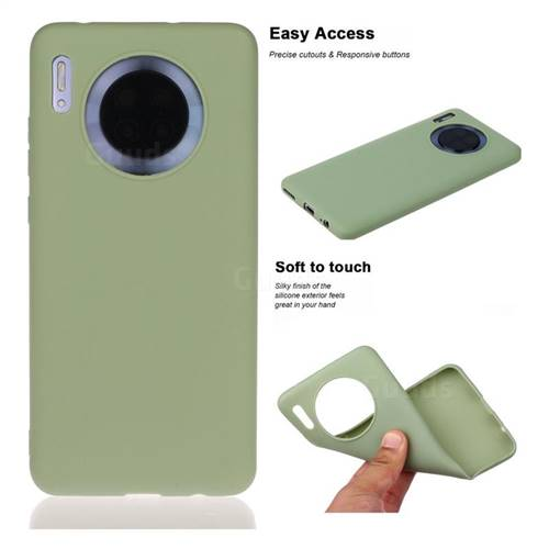 Soft Matte Silicone Phone Cover for Huawei Mate 30 - Bean Green