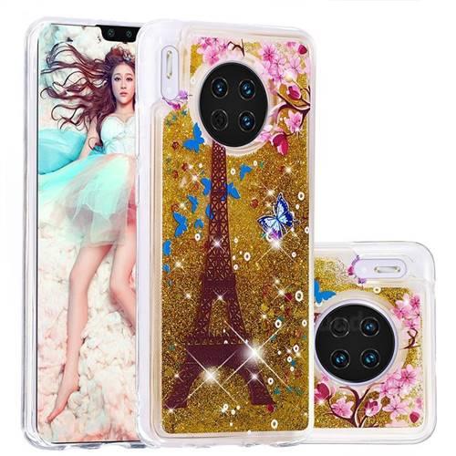 Golden Tower Dynamic Liquid Glitter Quicksand Soft TPU Case for Huawei Mate 30