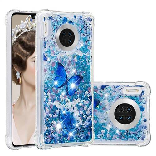 Flower Butterfly Dynamic Liquid Glitter Sand Quicksand Star TPU Case for Huawei Mate 30