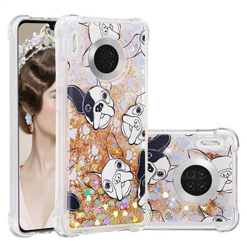 Bulldog Dynamic Liquid Glitter Sand Quicksand Star TPU Case for Huawei Mate 30