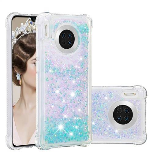 Dynamic Liquid Glitter Sand Quicksand TPU Case for Huawei Mate 30 - Silver Blue Star