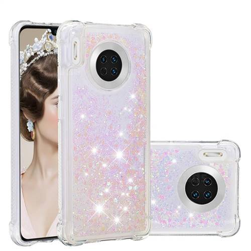 Dynamic Liquid Glitter Sand Quicksand Star TPU Case for Huawei Mate 30 - Pink