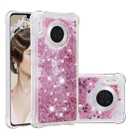 Dynamic Liquid Glitter Sand Quicksand Star TPU Case for Huawei Mate 30 - Diamond Rose