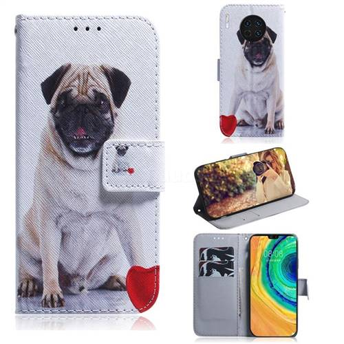 Pug Dog PU Leather Wallet Case for Huawei Mate 30