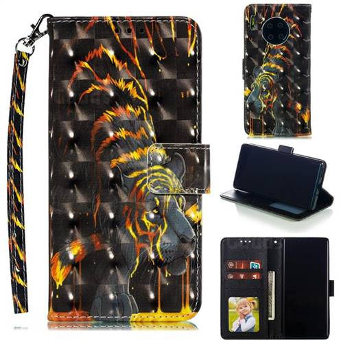 Tiger Totem 3D Painted Leather Phone Wallet Case for Huawei Mate 30