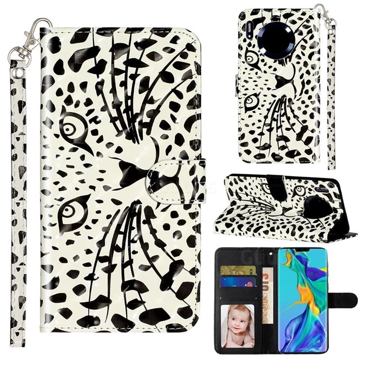 Leopard Panther 3D Leather Phone Holster Wallet Case for Huawei Mate 30