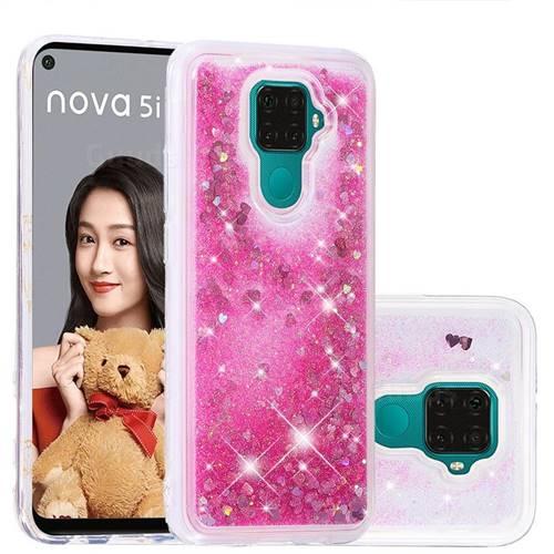 Dynamic Liquid Glitter Quicksand Sequins TPU Phone Case for Huawei Mate 30 Lite(Nova 5i Pro) - Rose