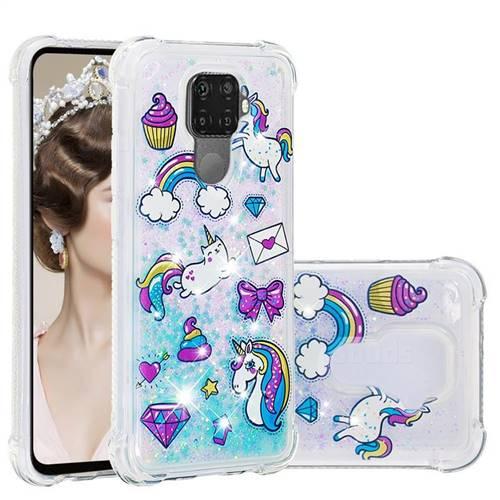 Fashion Unicorn Dynamic Liquid Glitter Sand Quicksand Star TPU Case for Huawei Mate 30 Lite(Nova 5i Pro)