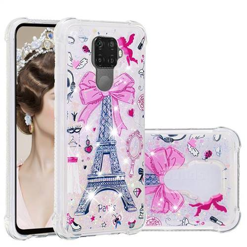 Mirror and Tower Dynamic Liquid Glitter Sand Quicksand Star TPU Case for Huawei Mate 30 Lite(Nova 5i Pro)