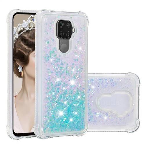 Dynamic Liquid Glitter Sand Quicksand TPU Case for Huawei Mate 30 Lite(Nova 5i Pro) - Silver Blue Star
