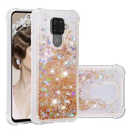 Dynamic Liquid Glitter Sand Quicksand Star TPU Case for Huawei Mate 30 Lite(Nova 5i Pro) - Diamond Gold