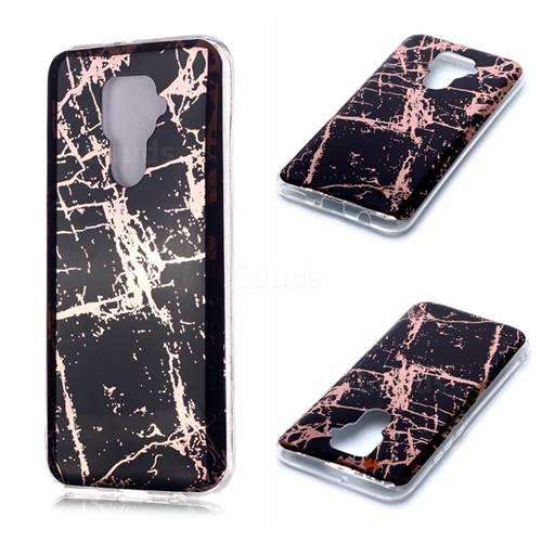 Black Galvanized Rose Gold Marble Phone Back Cover for Huawei Mate 30 Lite(Nova 5i Pro)