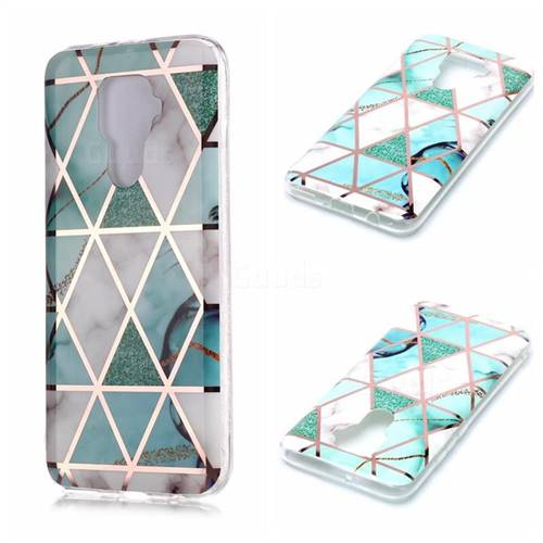Green White Galvanized Rose Gold Marble Phone Back Cover for Huawei Mate 30 Lite(Nova 5i Pro)