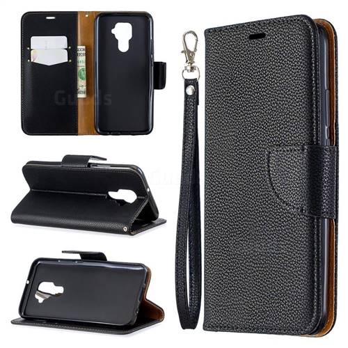 Classic Luxury Litchi Leather Phone Wallet Case for Huawei Mate 30 Lite(Nova 5i Pro) - Black