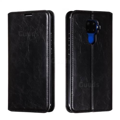 Retro Slim Magnetic Crazy Horse PU Leather Wallet Case for Huawei Mate 30 Lite(Nova 5i Pro) - Black