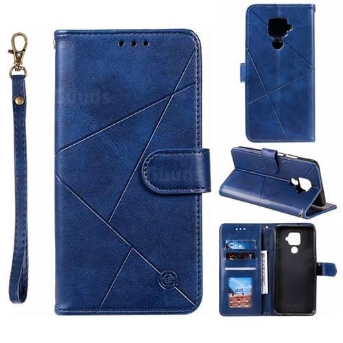 Embossing Geometric Leather Wallet Case for Huawei Mate 30 Lite(Nova 5i Pro) - Blue