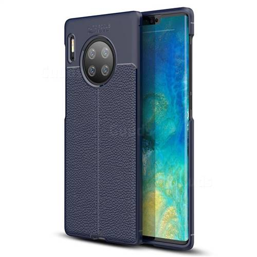 diversamente f40a6 dcfd4 Luxury Auto Focus Litchi Texture Silicone TPU Back Cover for Huawei Mate 30  Pro - Dark Blue