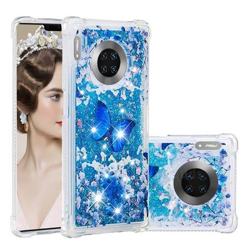 Flower Butterfly Dynamic Liquid Glitter Sand Quicksand Star TPU Case for Huawei Mate 30 Pro