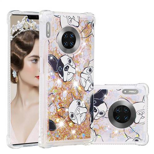 Bulldog Dynamic Liquid Glitter Sand Quicksand Star TPU Case for Huawei Mate 30 Pro