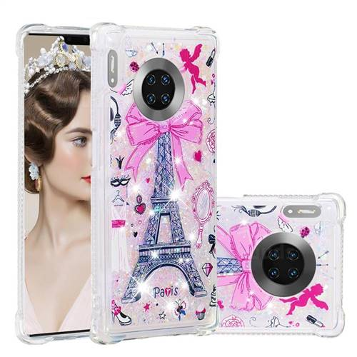 Mirror and Tower Dynamic Liquid Glitter Sand Quicksand Star TPU Case for Huawei Mate 30 Pro
