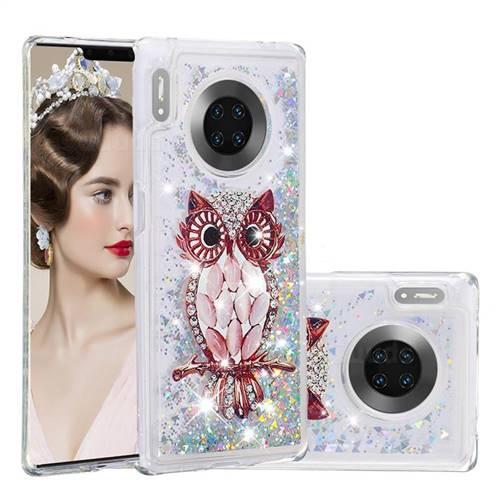 Seashell Owl Dynamic Liquid Glitter Quicksand Soft TPU Case for Huawei Mate 30 Pro