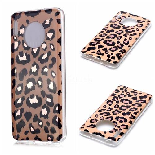 Leopard Galvanized Rose Gold Marble Phone Back Cover for Huawei Mate 30 Pro