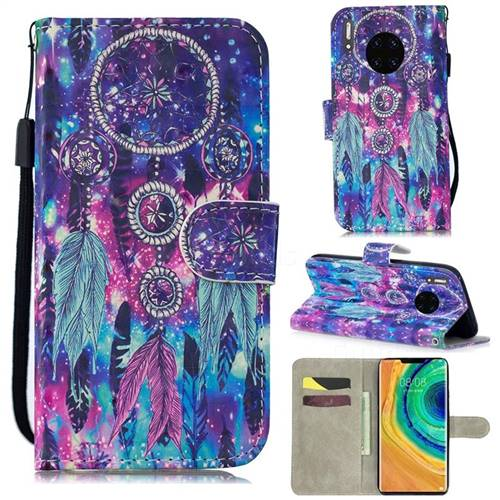 Star Wind Chimes 3D Painted Leather Wallet Phone Case for Huawei Mate 30 Pro
