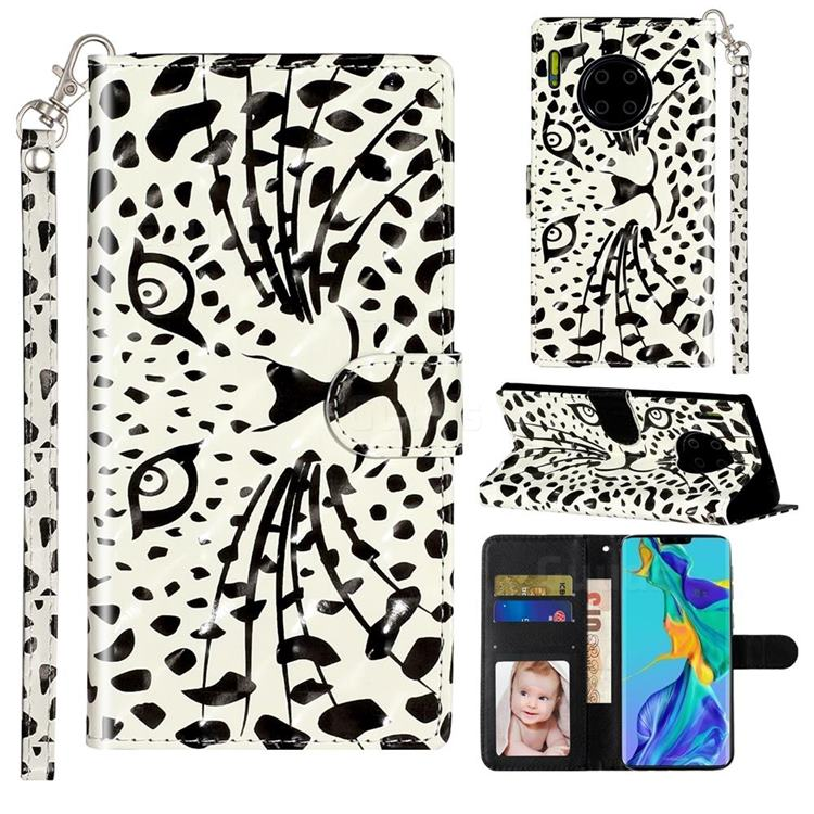 Leopard Panther 3D Leather Phone Holster Wallet Case for Huawei Mate 30 Pro
