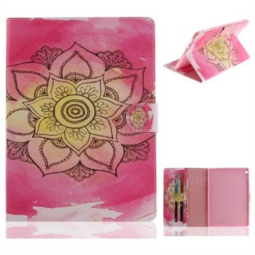 Pink Rose Painting Tablet Leather Wallet Flip Cover for Huawei MediaPad M3 Lite 10