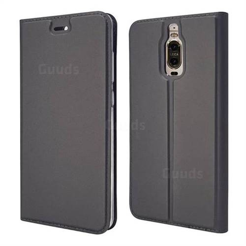 Ultra Slim Card Magnetic Automatic Suction Leather Wallet Case for Huawei Mate 9 Pro 5.5 inch - Star Grey