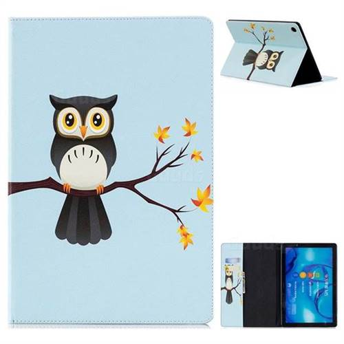 Owl on Tree Folio Stand Leather Wallet Case for Huawei MediaPad M5 10 / M5 10 inch (Pro)