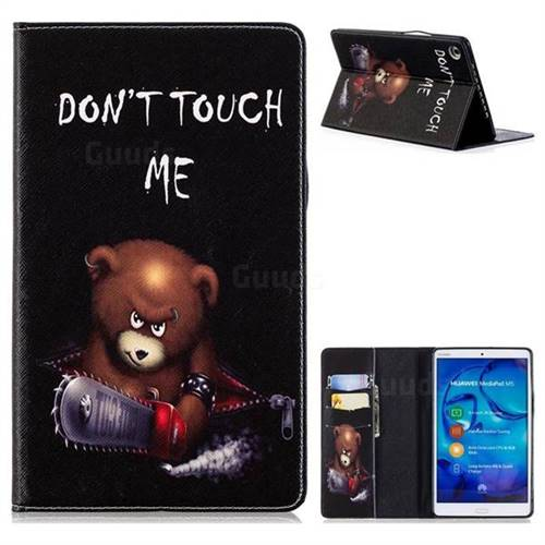 Chainsaw Bear Folio Stand Leather Wallet Case for Huawei MediaPad M5 8 inch