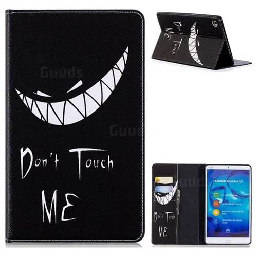Crooked Grin Folio Stand Leather Wallet Case for Huawei MediaPad M5 8 inch
