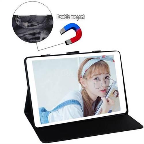 White Tiger Handbag Tablet Leather Wallet Flip Cover for Huawei MediaPad M6  10 8 inch