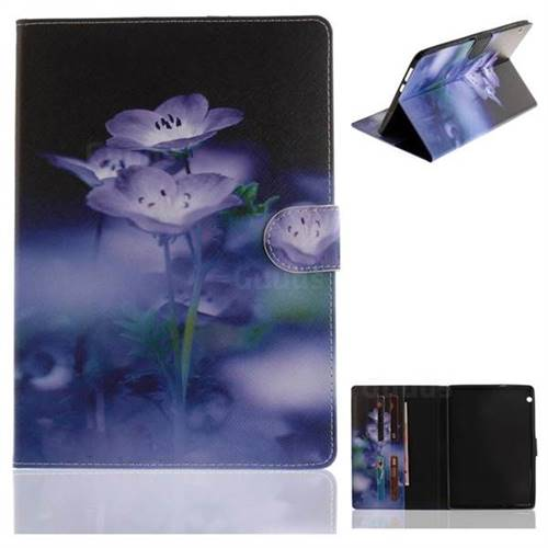 Blue Flowers Painting Tablet Leather Wallet Flip Cover for Huawei MediaPad T3 10